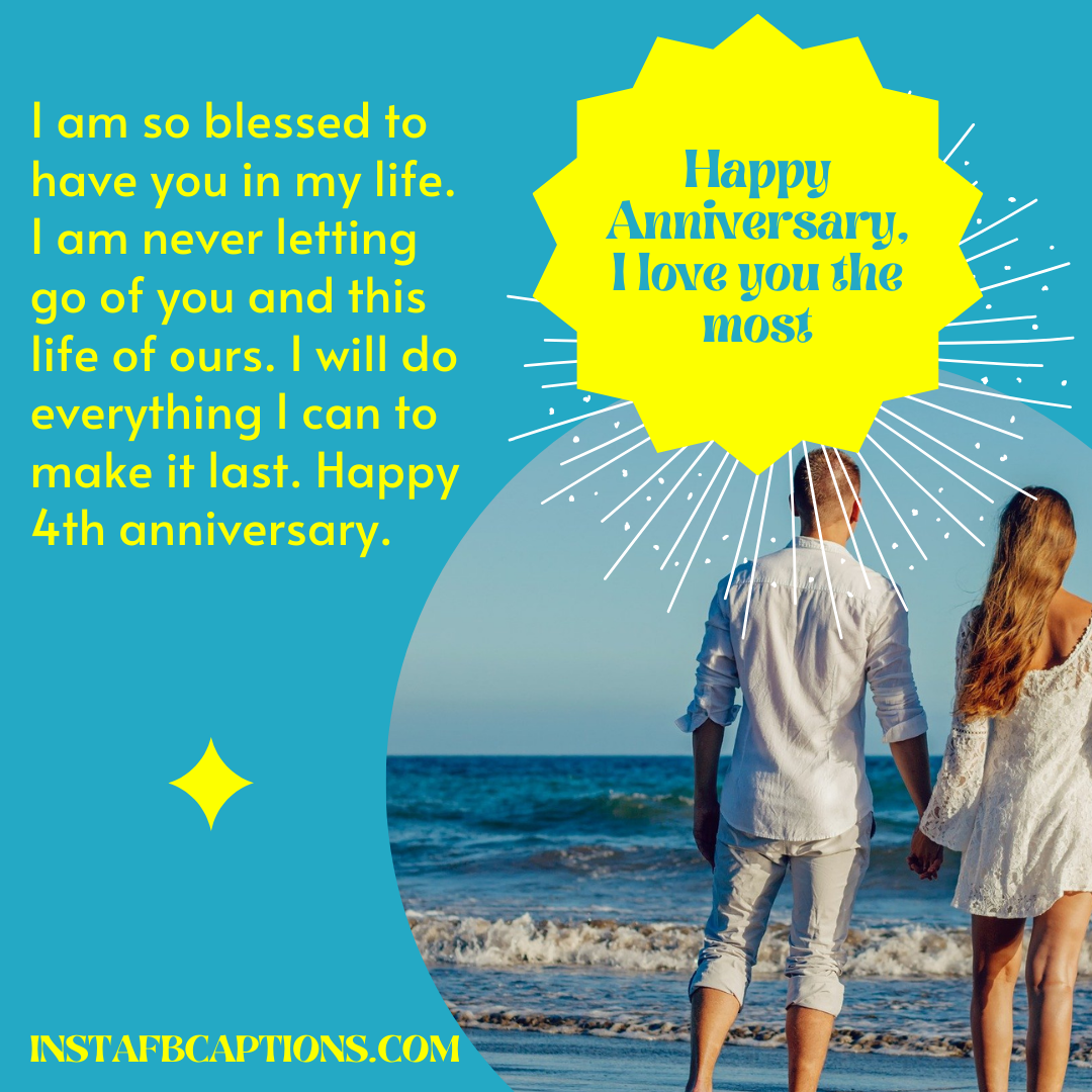 4th Anniversary Romantic Quotes  - 4th Anniversary Romantic Quotes - 4th Year Anniversary Instagram Captions and Quotes in 2021