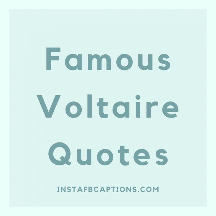 Famous Voltaire Quotes
